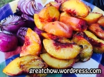 Grilled Peaches and Onions- WM